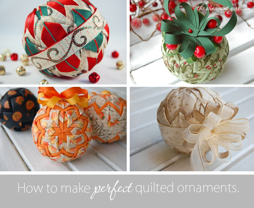 if you can fold a piece of fabricyou can make a perfect Stylish Quilted Ornament Pattern Gallery