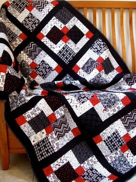 image result for some red black and white quilt patterns Red And Black Quilt Patterns