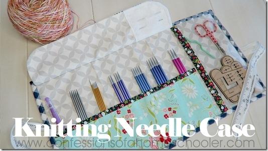 interchangeable knitting needle case tutorial Elegant Quilted Knitting Needle Case Pattern Inspirations