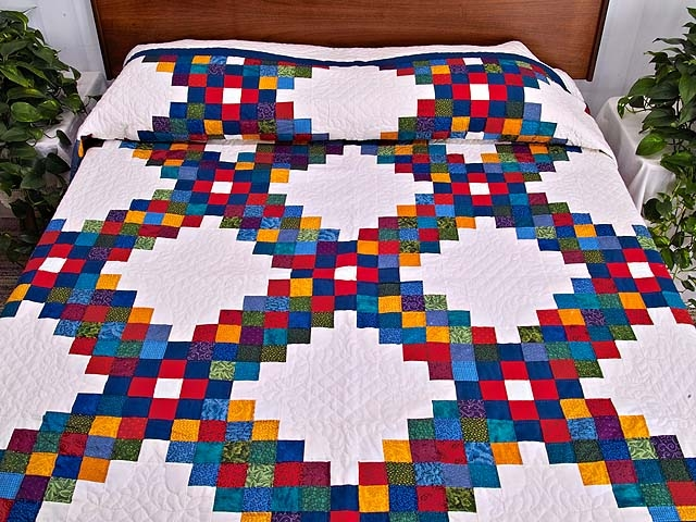irish chain quilt gorgeous meticulously made amish quilts Modern Triple Irish Chain Quilt Pattern Gallery