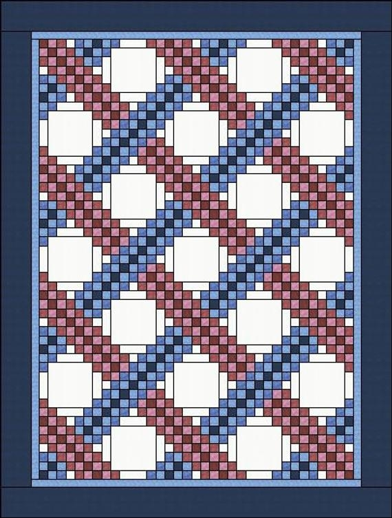 irish chain quilt pattern braided triple irish chain multiple sizes Modern Triple Irish Chain Quilt Pattern Gallery
