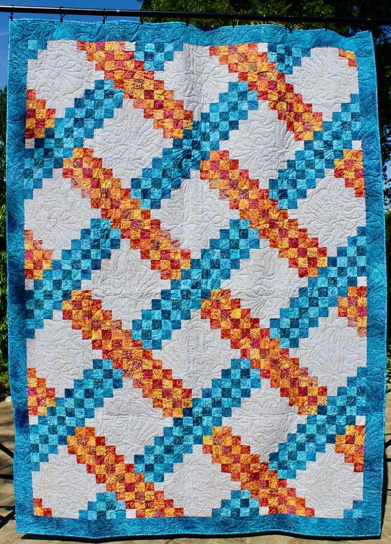 irish chain quilt pattern braided triple irish chain multiple sizes printed Modern Triple Irish Chain Quilt Pattern Gallery