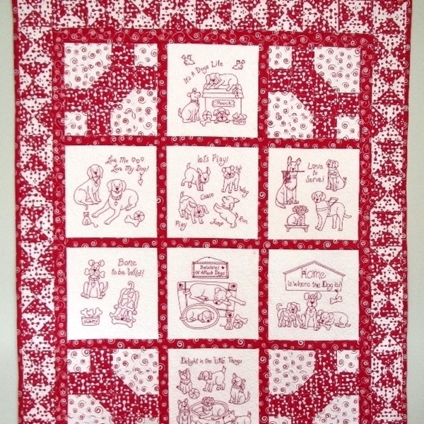 its a dogs life hand embroidery Elegant Quilt Pattern For A Dog Bone