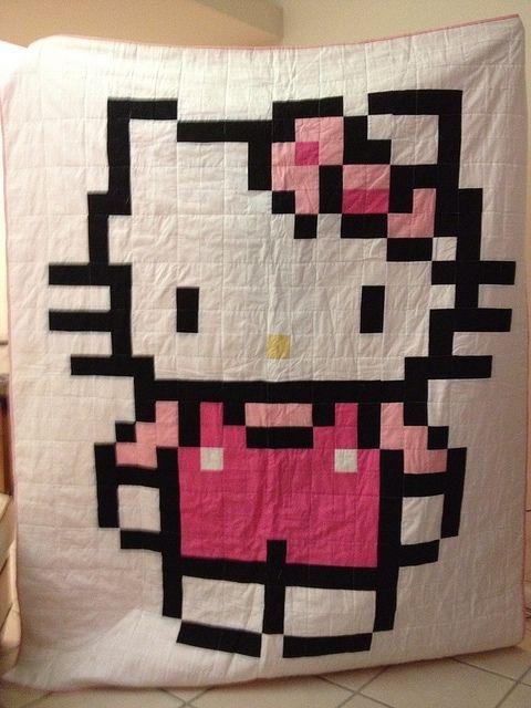 jordans hello kitty quilt girly girls hello kitty Modern Hello Kitty Quilt Block Pattern Gallery