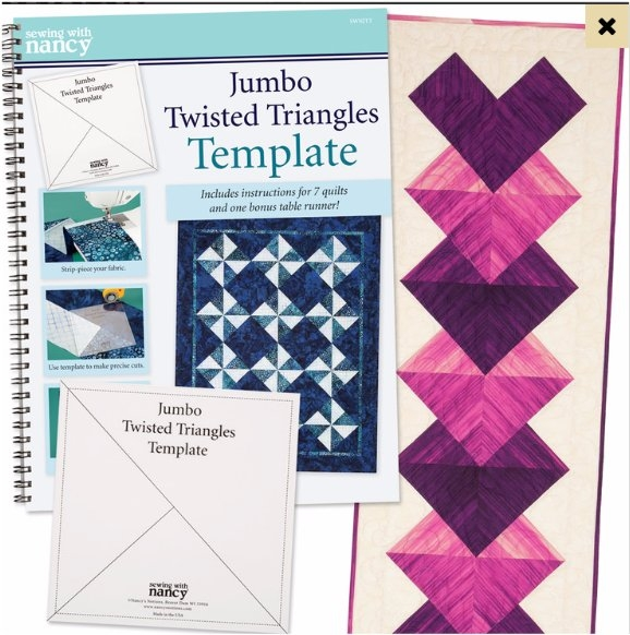 jumbo twisted triangles template and book Modern Twisted Triangle Quilt Pattern Gallery