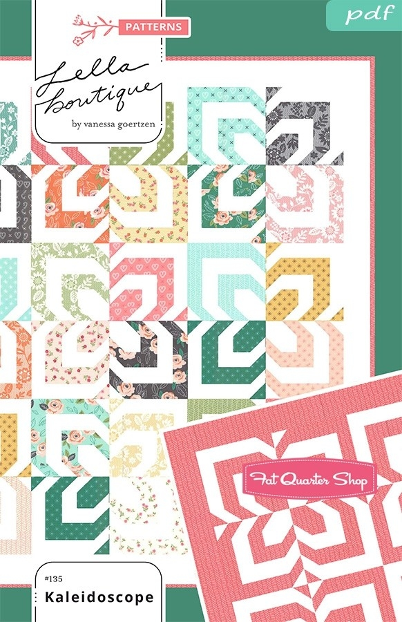 kaleidoscope downloadable pdf quilt pattern lella boutique Lella Boutique Kaleidoscope Quilt Pattern Free Inspirations