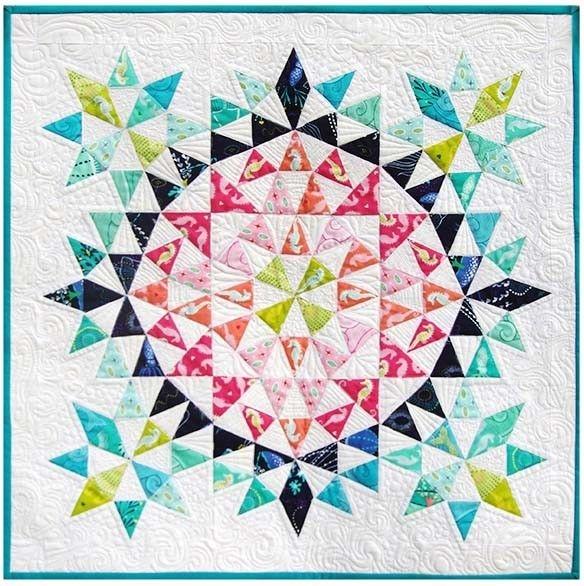 kaleidoscope mini quilt debbi groskopf seen at robert Interesting Kaleidoscope Quilt Pattern Inspirations