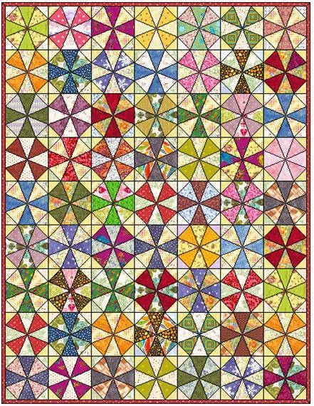 kaleidoscope quilt block mastlarge500id 857881 seams and Stylish Kaleidoscope Quilt Patterns Inspirations