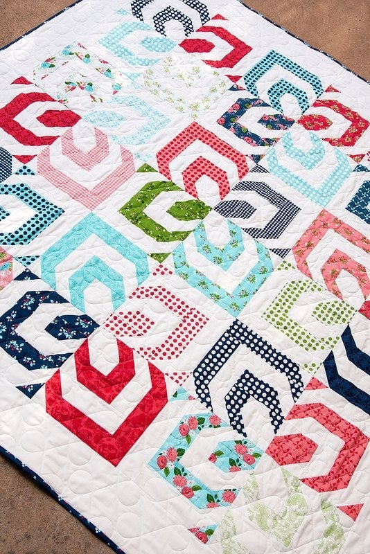 kaleidoscope quilt pattern from lella boutique jelly roll friendly Stylish Kaleidoscope Quilt Patterns Inspirations