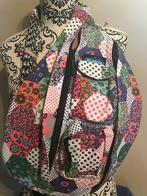 kavu rope bag backpack purse sling vintage quilt retired htf rare euc ebay Elegant Kavu Rope Bag Vintage Quilt Gallery