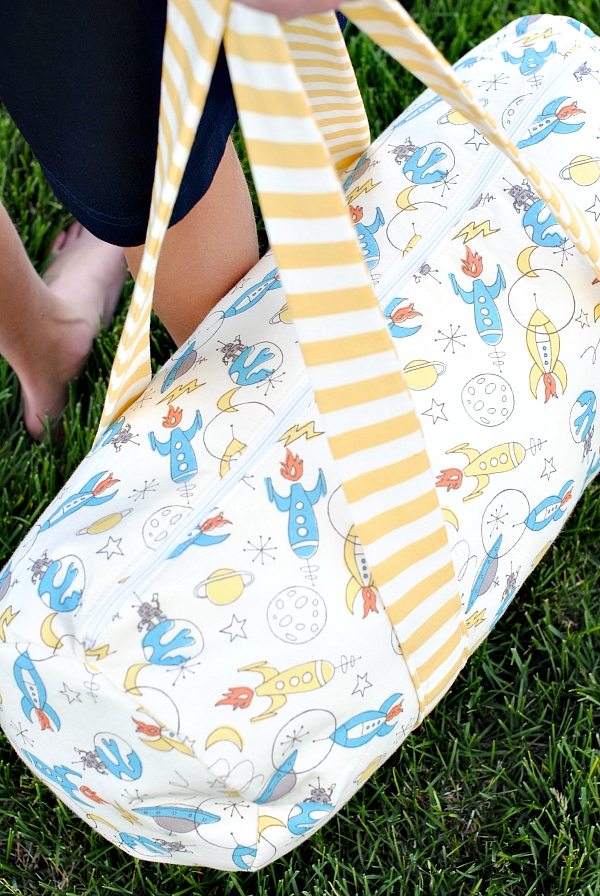 kids duffle bag pattern crazy little projects Stylish Quilted Duffle Bag Pattern