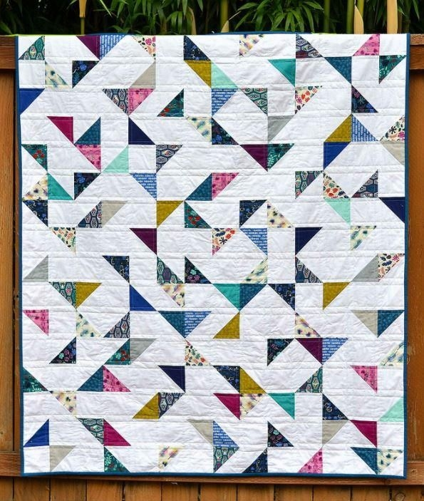 lagoon hst lap quilt modern quilt patterns half square Cozy Quilt Patterns For Charm Packs Inspirations