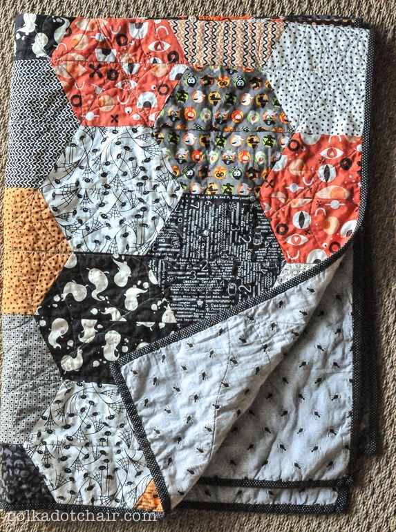 large hexagon quilt pattern and tutorial the polka dot Stylish Hexagon Quilt Pattern