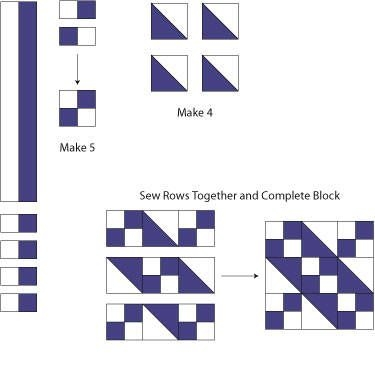 learn how to make a traditional jacobs ladder quilt block Modern Jacobs Ladder Quilt Pattern