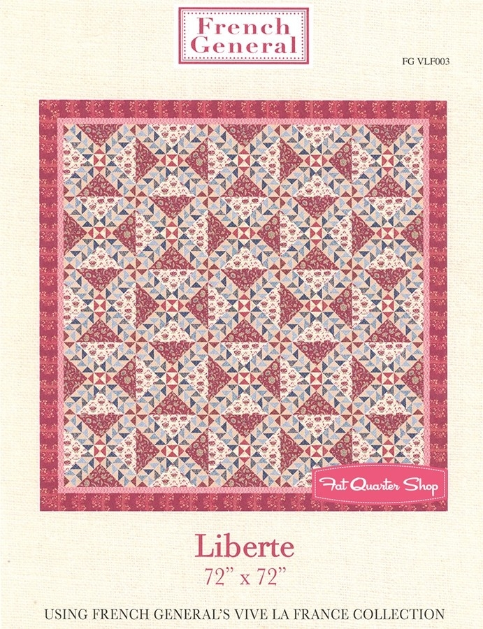 liberte quilt pattern french general patterns fg vlf003 Modern French General Quilt Pattern Gallery