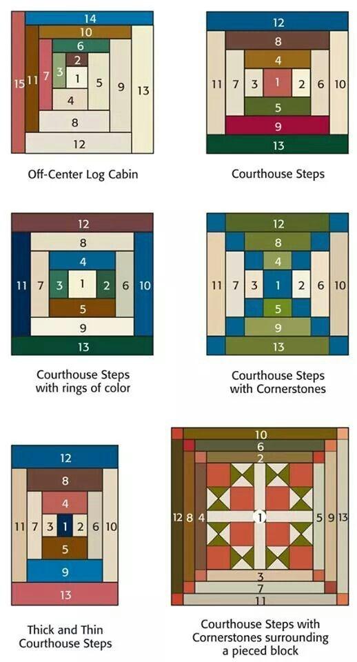 log cabin variations quilts log cabin patchwork log Modern Quilt Patterns Log Cabin Inspirations