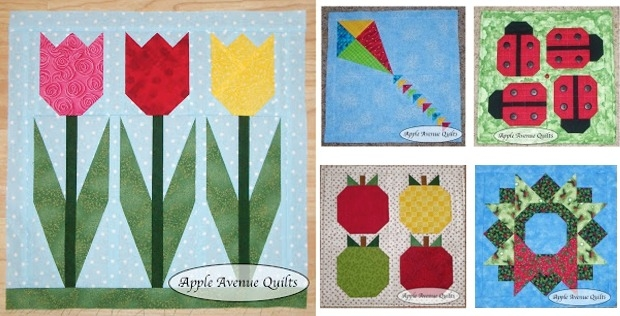 lovely mini quilts for every month of the year quilting digest Cool Quilt Of The Month Patterns Inspirations