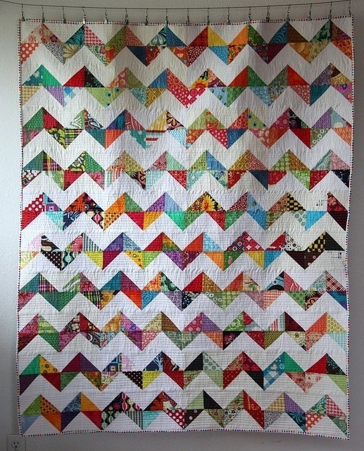 lovely zig zag quilt tutorial no triangles quilt design Stylish Zig Zag Quilt Tutorial No Triangles Gallery