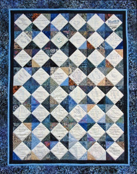mad about quilts wedding signature quilt meghan david Stylish Signature Quilt Patterns Inspirations