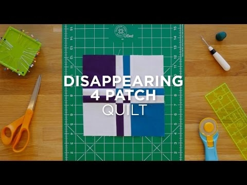 make a disappearing four patch quilt snips Interesting Disappearing 4 Patch Quilt Pattern