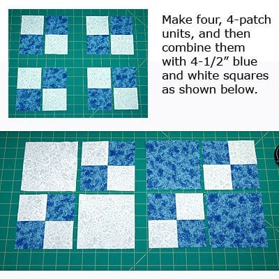 make dual double four patch blocks and experiment with lots Cool 4 Patch Quilt Block Patterns