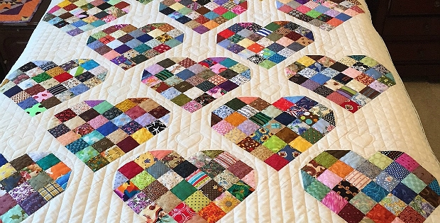 make your own sweet quilt from candy heart blocks quilting Cool Make Your Own Quilt Pattern