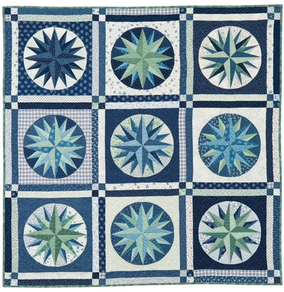 mariners compass quilt epattern Modern Mariners Compass Quilts