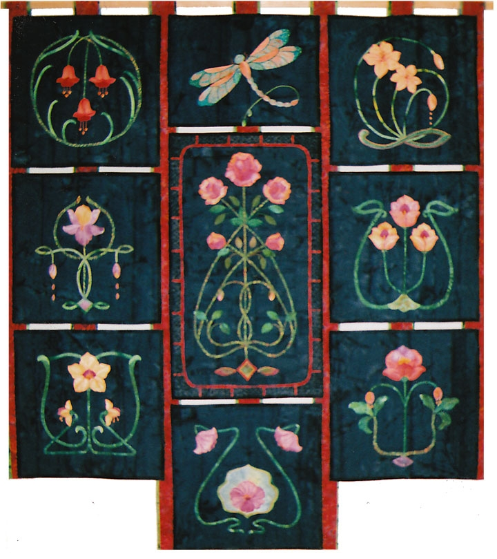 mary kay perry designs Stylish Art Nouveau Quilt Patterns