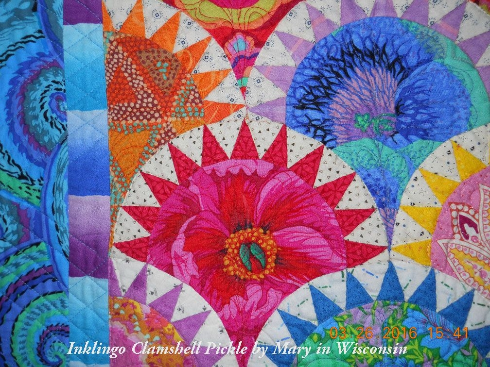 marys clamshell pickle all about inklingo clamshell Cool Pickled Clamshell Quilt Pattern Inspirations