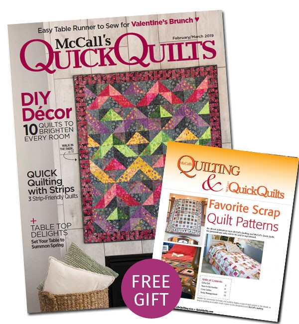 mccalls quick quilts magazine print subscription Cozy The Quilt Pattern Magazine
