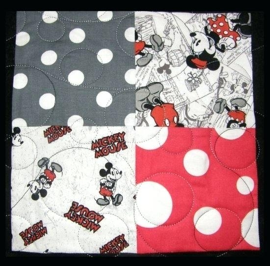 mickey mouse quilt pattern hautedesignco Elegant Minnie Mouse Baby Quilt