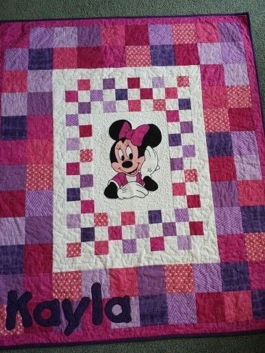 minnie mouse cot quilt wwwfacebookkatnapquilts my Elegant Minnie Mouse Baby Quilt