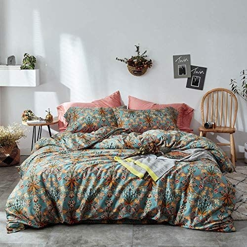 mixinni vintage style garden flower duvet cover set with Interesting Vintage Style Quilt Covers