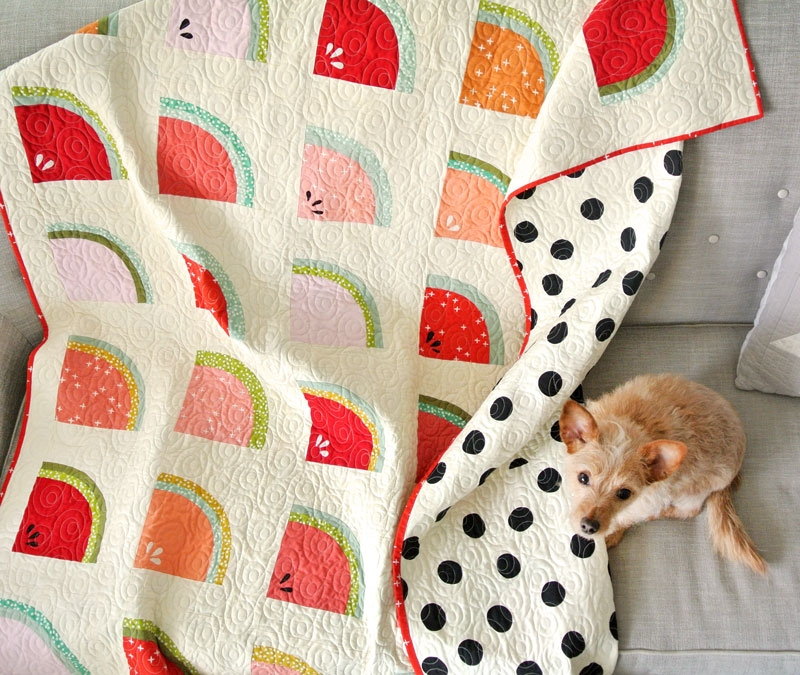 mod melons free quilt pattern suzy quilts Unique Watermelon Quilt Pattern Inspirations