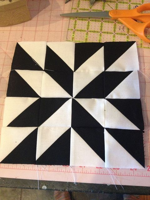 modern half square triangle website shows many different Cozy Half Triangle Quilt Blocks