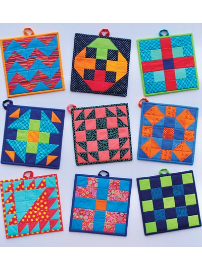 modern patch pot holders pattern Modern Quilted Pot Holder Patterns