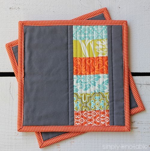 modern quilted potholders simply notable Stylish Quilted Potholder Patterns Inspirations