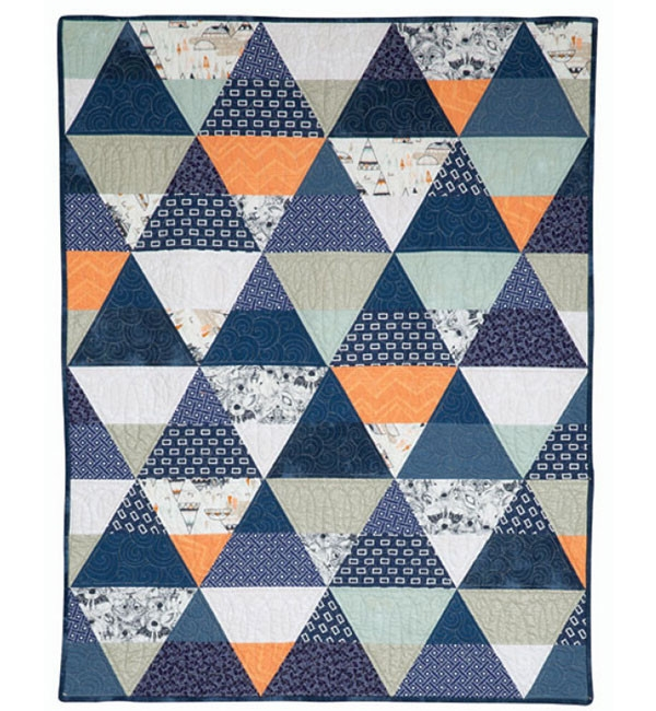 modern triangle quilts pattern collection Unique Triangle Quilt Patterns Inspirations