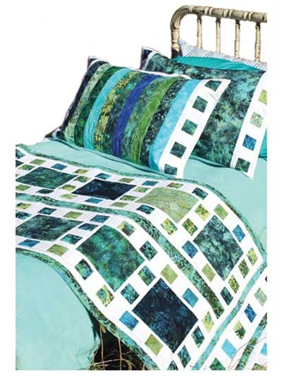 mosaique de mer bed runner pillow shams pattern Elegant Bed Runner Quilt Patterns