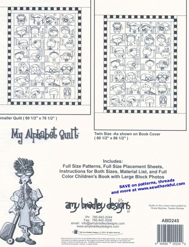 my alphabet quilt pattern amy bradley designs Cozy Amy Bradley Quilt Patterns Gallery