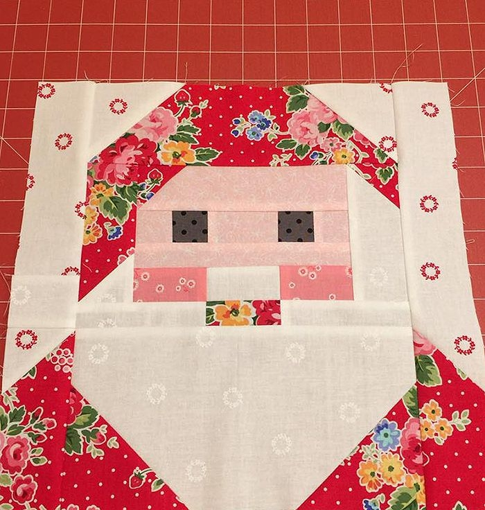 new christmas quilt pattern santa claus quilt block Santa Claus Quilt Patterns