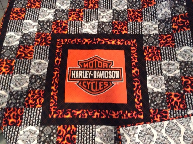 new harley davidson fabric for quilting quilt design creations Cozy New Harley Davidson Fabric For Quilting