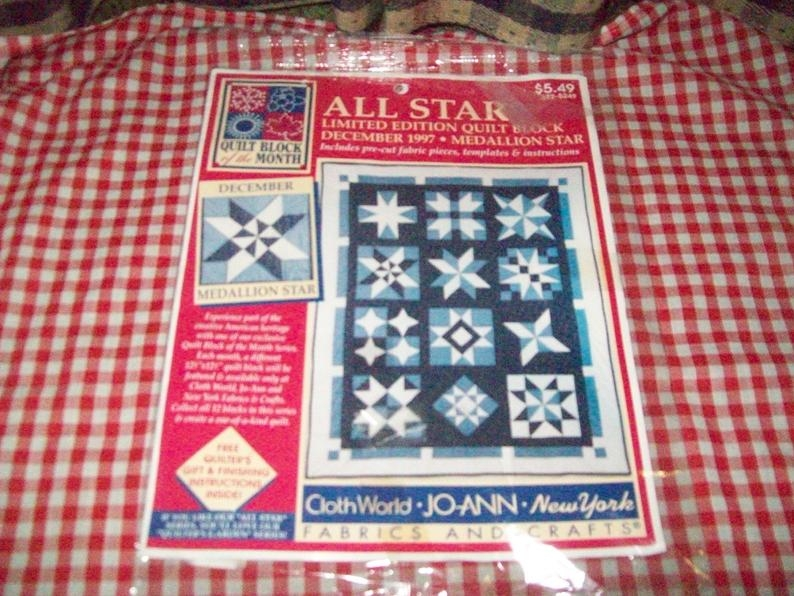new joann fabric quilt block of the month medallion star 1997 from the all star series 372 5249 New Joann Quilting Fabric Gallery