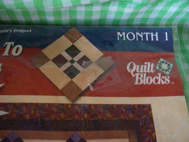 new joann quilt block of the month series is pathway to the stars block is month no one southern cross precut fabric 18x22 with instructions New Joann Quilting Fabric Gallery