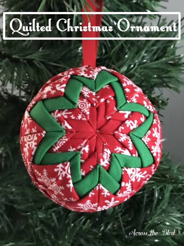 no sew quilted christmas ornament across the blvd Cool No Sew Quilted Ornaments Gallery