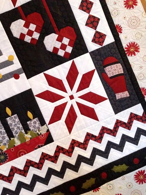 nordic christmas quilt pattern christmas quilts Modern Scandinavian Quilt Patterns Gallery