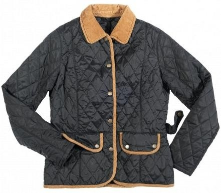 oconnells clothing womens barbour quilted Cool Barbour Vintage Quilted Jacket With Cord Collar And Trims