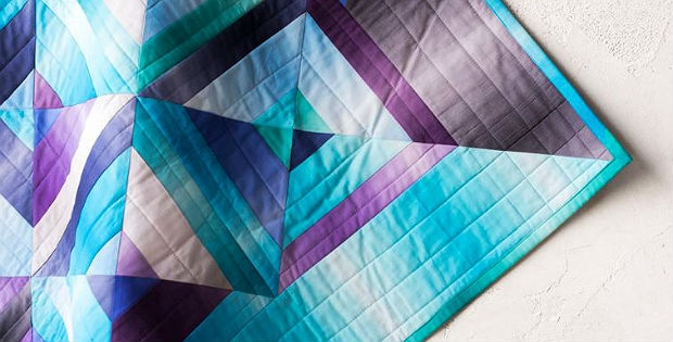 ombre fabrics are stunning in this quilt quilting digest Cozy Beautiful Ombre Quilting Fabric Ideas Gallery