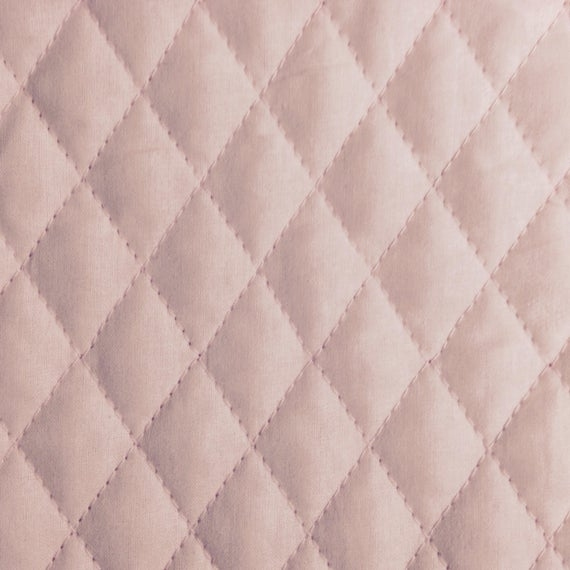 one half yard of double sided pre quilted fabric material ba pink Elegant Pre Quilted Fabric By The Yard