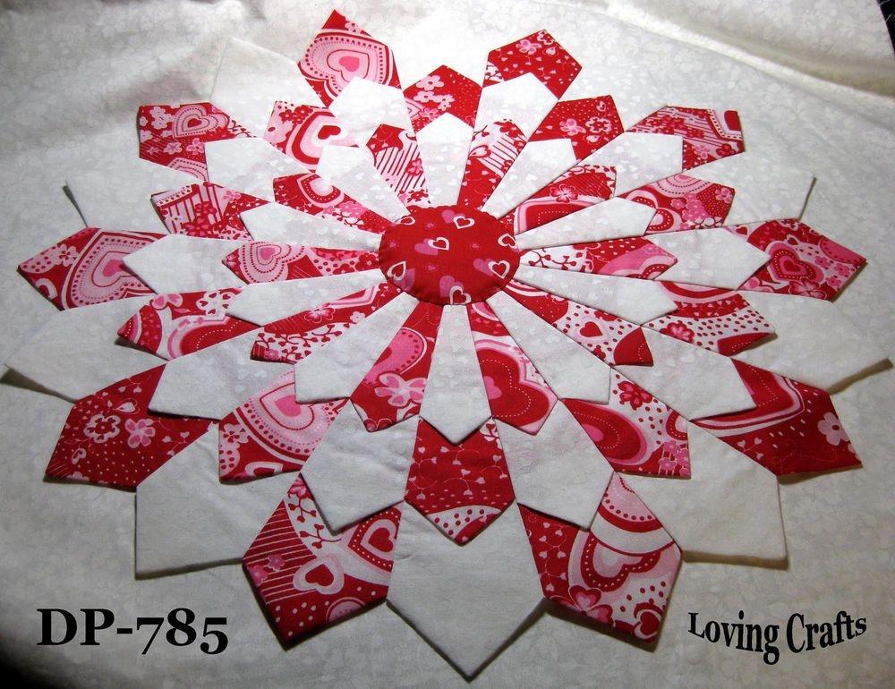 one valentine center piece dresden plate quilt blocks 16 12 Cozy Dresden Plate Quilt Block Pattern